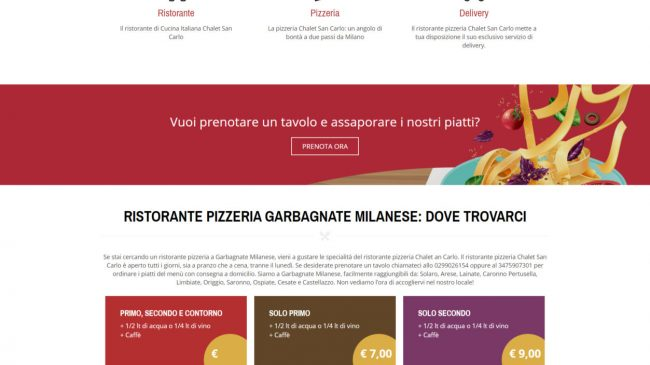 Ristorante Pizzeria Chalet San Carlo – Garbagnate Milanese